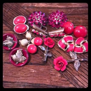 Lot of red VTG jewelry